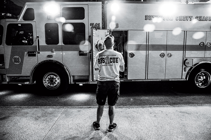 Bethesda-Chevy Chase Rescue Squad, July 18. By Robin Fader